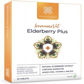 Healthspan ImmunoVit  Elderberry Plus -  30 Tablets