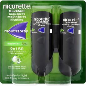 Nicorette Quickmist Duo - Fresh Mint 1mg Spray (2 x 150)