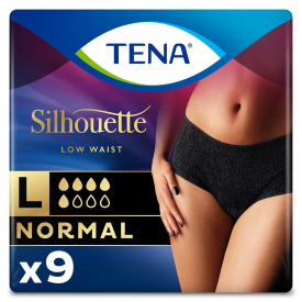 Tena Silhouette Normal Incontinence Pants Medium 9 Pack Noir - (Case Of 3)