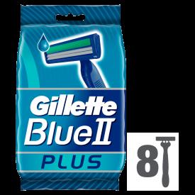 Gillette Blue II Plus Disposable Razors – 8 Pack