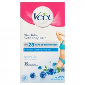 Veet Easy-Gelwax Wax Strips Bikini & Underarm - 30