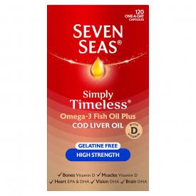 Seven Seas High Strength Pure Cod Liver Oil – 120 Capsules