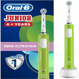 Oral-B Power Junior Green Electric Rechargeable Toothbrush