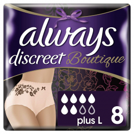 Always Discreet Boutique Incontinence Pants Large - 8