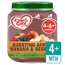 Cow & Gate Stage 1 Apple, Banana & Berries 125g