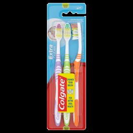 Colgate Extra Clean Medium Toothbrush - 3 Pack