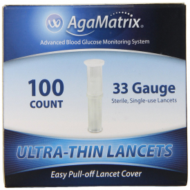 AgaMatrix Ultra-Thin Lancets 33g 200 Lancets