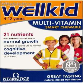Vitabiotics Wellkid Chewable Multi-Vitamin - 30 Tablets