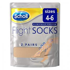 Scholl Flight Socks Natural 2 Pairs - Sizes 4-6
