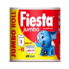 Fiesta Jumbo Kitchen Towel - 1 Roll (Total 600 Sheets)