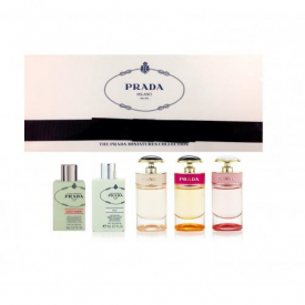 Prada Miniatures Ladies Collection Set - Iris, Fleur D'Oranger, Candy, Candy Florale, Candy L'eau