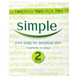 Simple Pure Soap For Sensitive Skin – Twin Pack