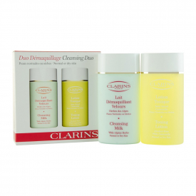 Clarins Cleansing Milk 100ml - Toning Lotion 100ml - Normal Or Dry