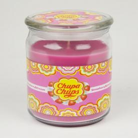 Chupa Chups Large Candle Jar Strawberry & Cream 453g