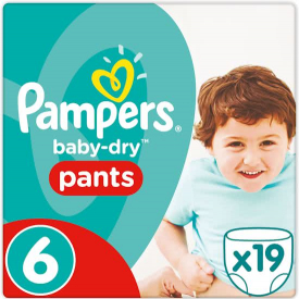 Pampers Baby Dry Pants Size 6 x 19