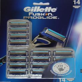Gillette Fusion ProGlide Men's Razor Blades - 14 Blades Value Bulk Pack