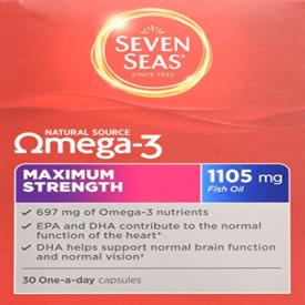 Seven Seas Natural Source Omega-3 - 30 x 1105mg Capsules