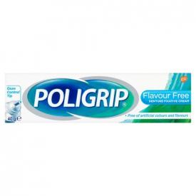 Poligrip Denture Fixative Cream Flavour Free - 40g