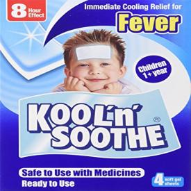 Kool 'N' Soothe Soft Gel Sheets Kids Multipack (Pack of 4)