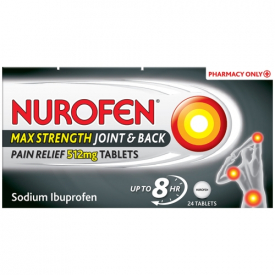 Nurofen Max Strength Joint & Back Pain Relief 512mg - 24 Tablets