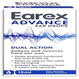Earex Advance Ear Wax Removal Drops - 12ml