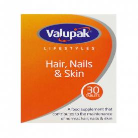 Valupak Hair Nails & Skin - 30 Tablets