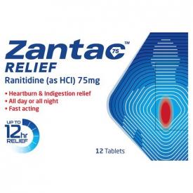 Zantac 75 Relief – 12 Tablets