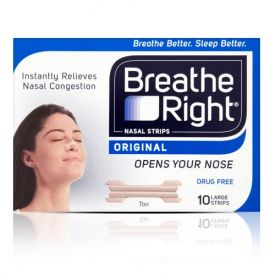 Breathe Right Nasal Strips Original Tan - 10 Large Strips