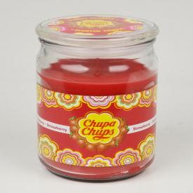 Chupa Chups Large Candle Jar Strawberry 453g