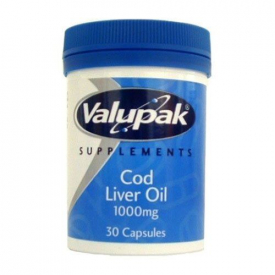 Valupak Cod Liver Oil Capsules 400mg – 30 Capsules