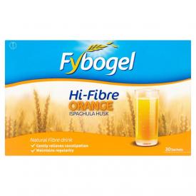 FyboGel Hi-Fibre Orange Sachets - 30 Sachets (3 Pack)