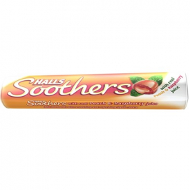 Halls Soothers Peach & Raspberry Lozenges 45g