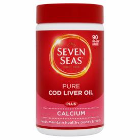 Seven Seas Pure Cod Liver Oil Plus Calcium 90 Capsules