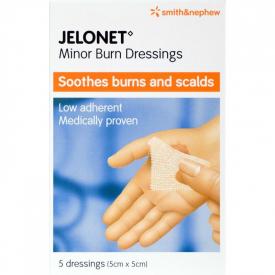 Jelonet Minor Burn Dressings 5cm x 5cm 5 Pack