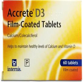 Accrete D3 Film-Coated 600mg/400iu - 60 Tablets