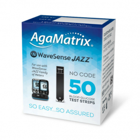 AgaMatrix WaveSense Jazz Blood Glucose 50 Strips