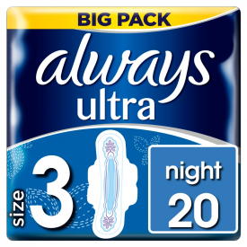 Always Ultra Duo Night Value - 20 Pack