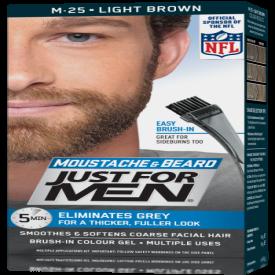 Just For Men Moustache & Beard Brush-In Colour Gel Light Brown M-35