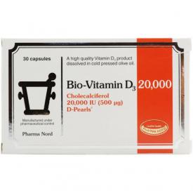 Bio-Vitamin D3 20000IU (500mcg) - 30 Capsules