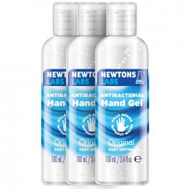 Newton's Antibacterial Hand Gel & Sanitiser 100ml - Case of 3