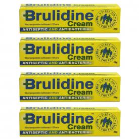 Brulidine Antiseptic & Antibacterial Cream 0.15% 25g - Pack of 4