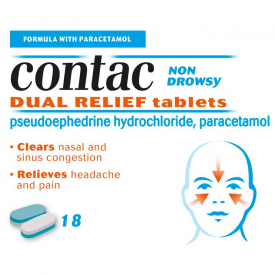 Contac Cold & Flu Dual Relief - 18 Tablets