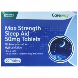Max Strength Sleep Aid 50mg - 20 Tablets