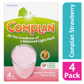 Complan Strawberry Nutritional Drink Sachets - 4 x 55g (Case Of 4)