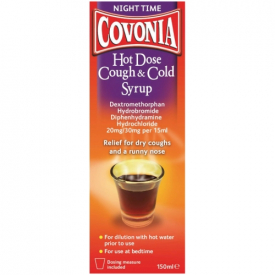 Covonia Night Time Hot Dose Cough And Cold Syrup – 150ml