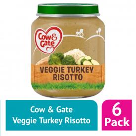 Cow & Gate Jar Veggie Turkey Risotto Stage 1 (Case Of 6)