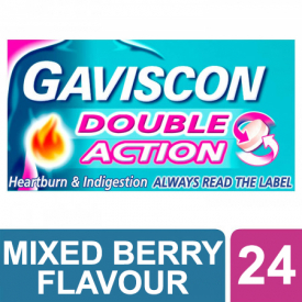 Gaviscon Double Action Chewable Tablets Mixed Berries - 24 Tablets