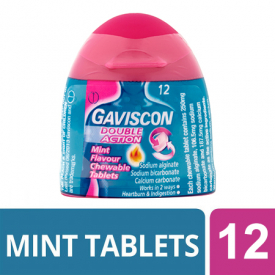 Gaviscon Double Action Chewable Tablets Mint - 12 Tablets