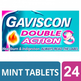 Gaviscon Double Action Chewable Tablets Mint - 24 Tablets