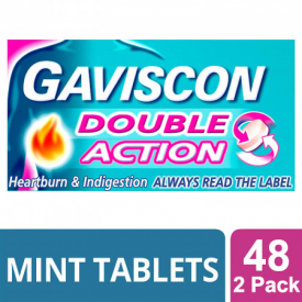 Gaviscon Double Action Chewable Tablets Mint - 48 Tablets (Pack of 2)